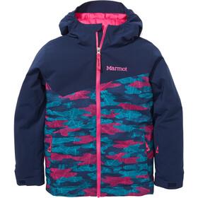Marmot Tasman Jakke Børn, blå/pink